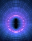 Fractal wormhole conceptual illustration.
