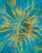 Fractal prismatic abstract illustration.