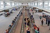 Passengers waiting at an airport