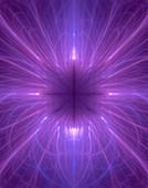 Fractal vortex abstract illustration.
