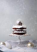 Weihnachtliche Schoko-Baiser-Torte