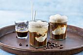 Coffee soda float