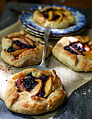 Nectarine and blueberry galettes