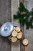 Cashew marzipan taler cookies