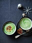 Kartoffel-Kresse-Suppe (Weihnachten)