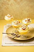 Lemon Posset (set cream) with Italian meringue