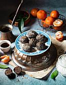 Chocolate Balls with Tangerine Zest