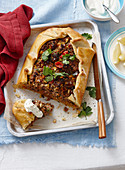 Moroccan spiced lamb pie