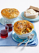 Vegetable curry pot pies