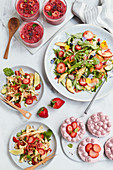 Summery strawberry dishes and pastries for vegans