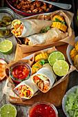 Burrito with jackfruit