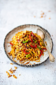 Bami Goreng with Chicken (Indonesia)