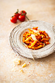 Penne all Arrabiata with pecorino cheese