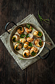 Roman snails with thyme herb butter