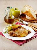 Pork Chops with Calvados