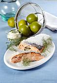 Salmon in salt crust