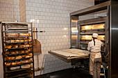 Female baker in bakery