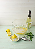 Cold duck - lemon and white wine punch with sparkling wine
