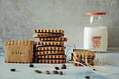 Small coffee and shortbread biscuits