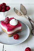 Raspberry layer tartlets
