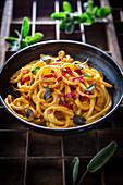 'Carbonara' with butternut squash noodles