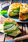 Italian filled sandwich bread