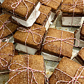 Graham Cracker Chocolate S'mores Tied with Twine