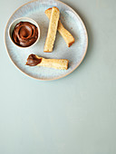 Almond and speculoos cream
