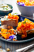 Vegan carrot 'salmon'