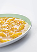 Orange fillets in viscose (molecular cuisine)