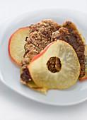 Veal liver in almond crust (molecular cuisine)