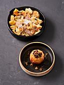 Baked apple and Kaiserschmarrn (vegan)