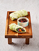 Autumn rolls in Chinese cabbage leaves (vegan)