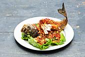 Thai Pad Cha (spicy fish and seafood dish)