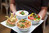 Thai street food platter