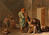 The foot operation, 17th century painting