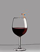 Alcohol abuse, conceptual illustration