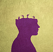 Neurodegenerative disease, conceptual illustration