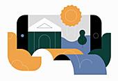 Award winning online business, conceptual illustration