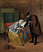 The sick woman, 17th century painting