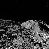 Surface of Charon, illustration
