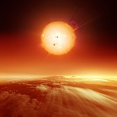 Sun over dying Earth, illustration
