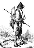 Cabbage cutter, 19th century illustration
