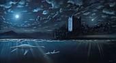 Loch Ness monsters, illustration