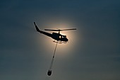 Bell UH1 Helicopter used in fire fighting