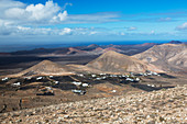View of La Degollada, Lazarote, Canary Islands
