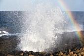 Crashing waves, Lanzarote, Canary Islands