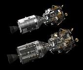 Apollo LM and CSM spacecraft, illustration