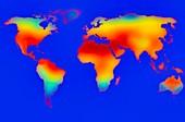 Global heatwave, illustration