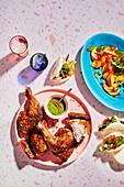 Roast five-spice chicken baos